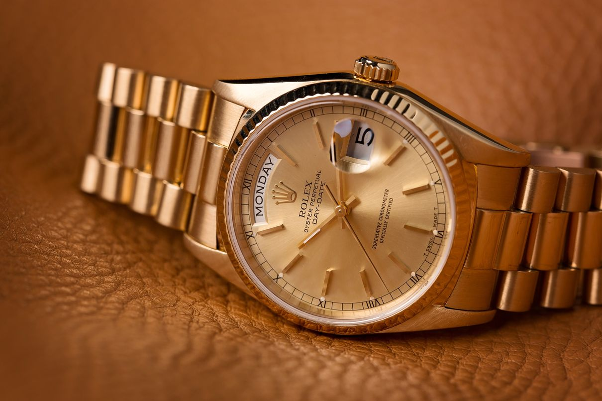 Gold Rolex Presidential Day-Date President Definition