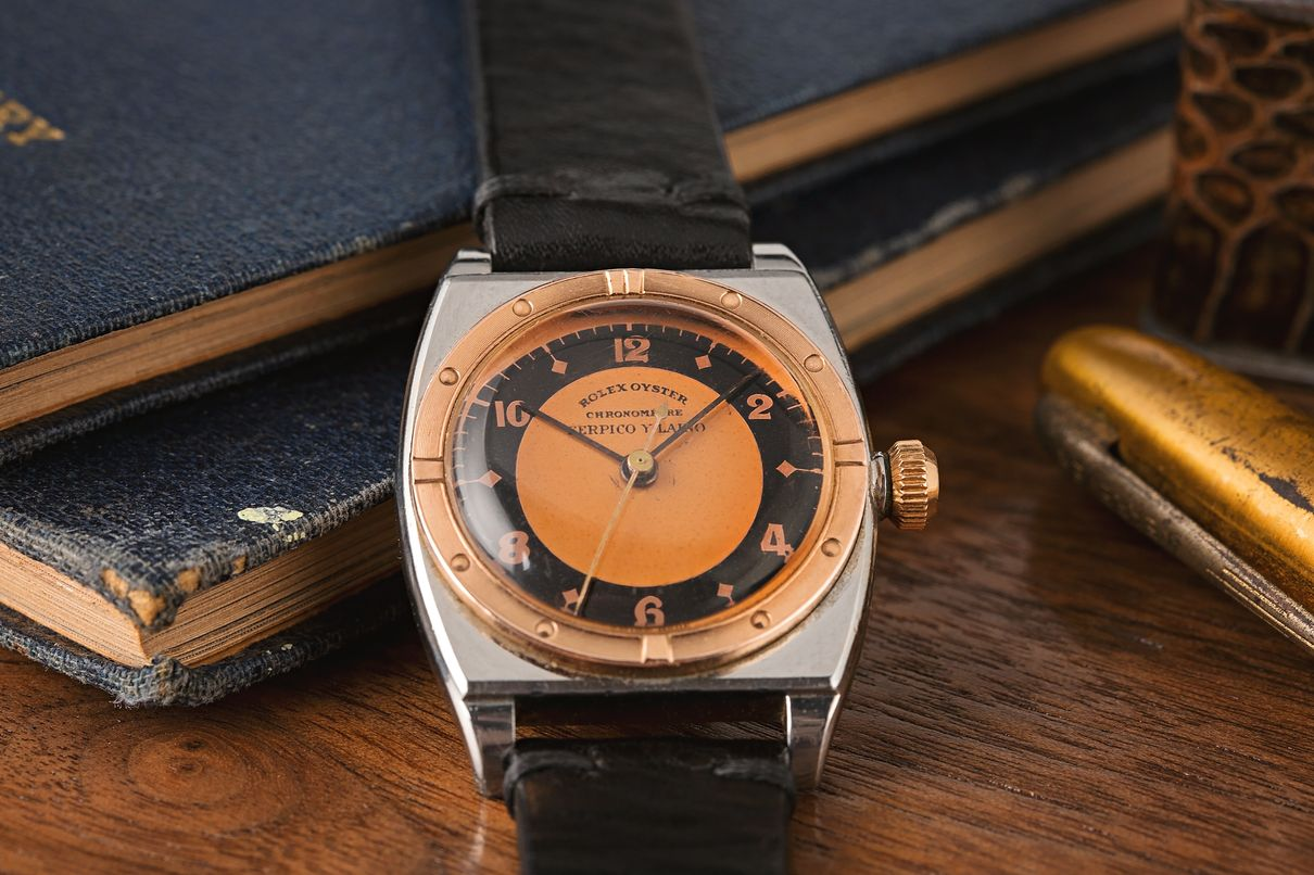 Rolex Oyster Reference 3359 Serpico y Laino Dial Rose Gold Two-Tone