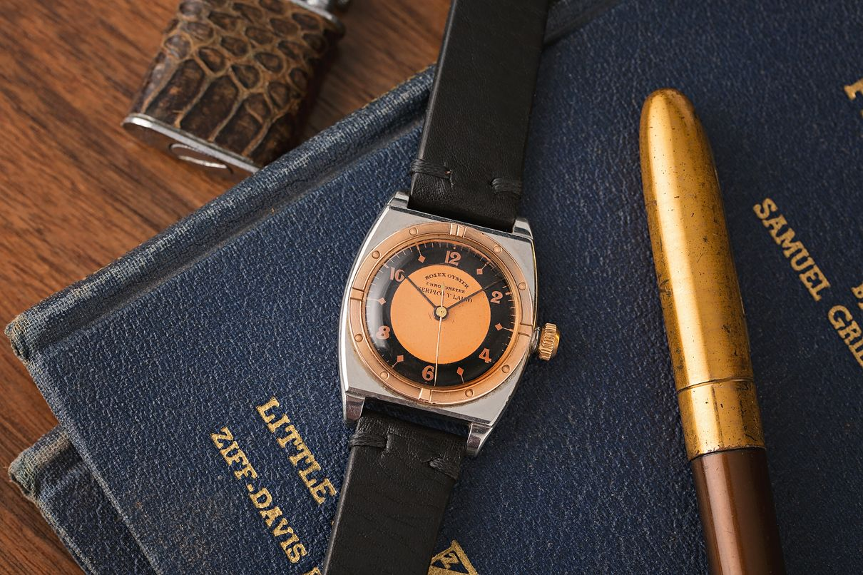 Rolex Oyster Reference 3359 Serpico y Laino Dial Two-Tone Rose Gold
