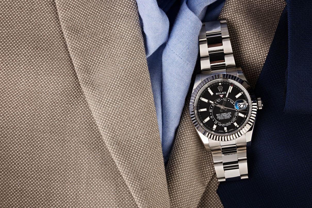 Rolex Sky-Dweller annual calendar saros luxury travel watch