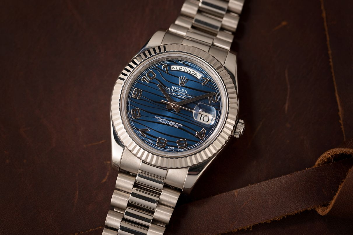 Rolex Watches Blue Dial Buying Guide Day-Date President Whtie Gold