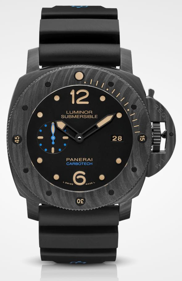 Panerai Watches Materials Luminor Submersible Carbotech