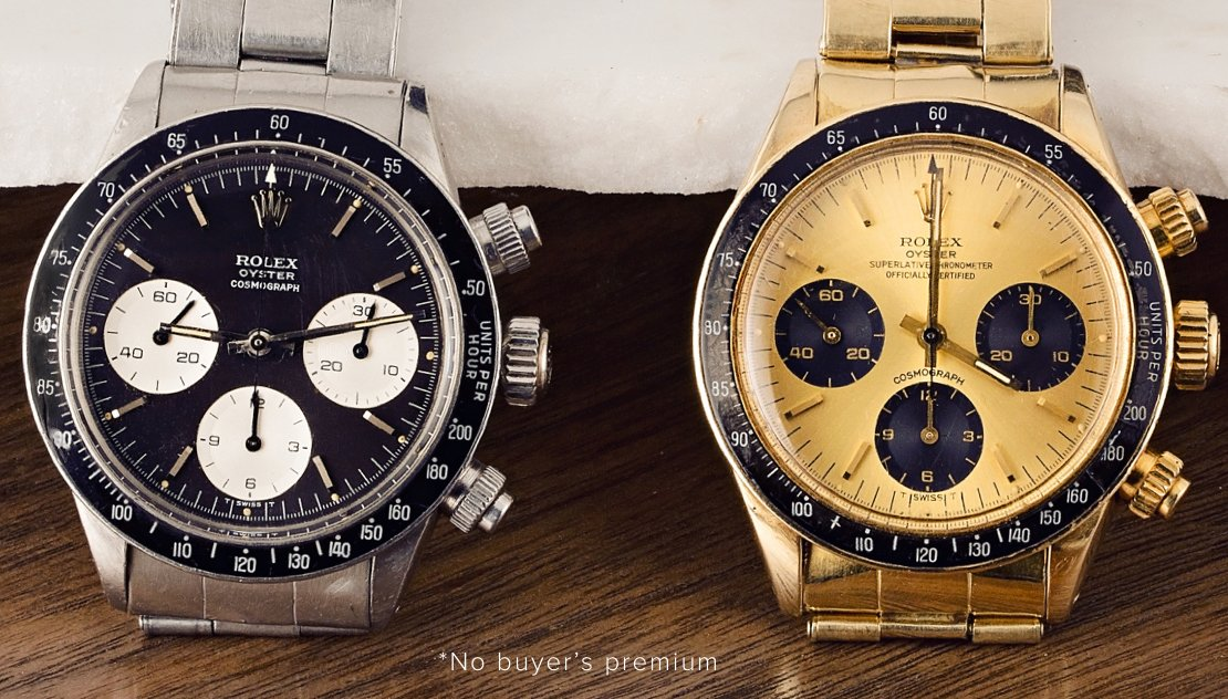 Bob's Watches Rolex Daytona Duo Auction