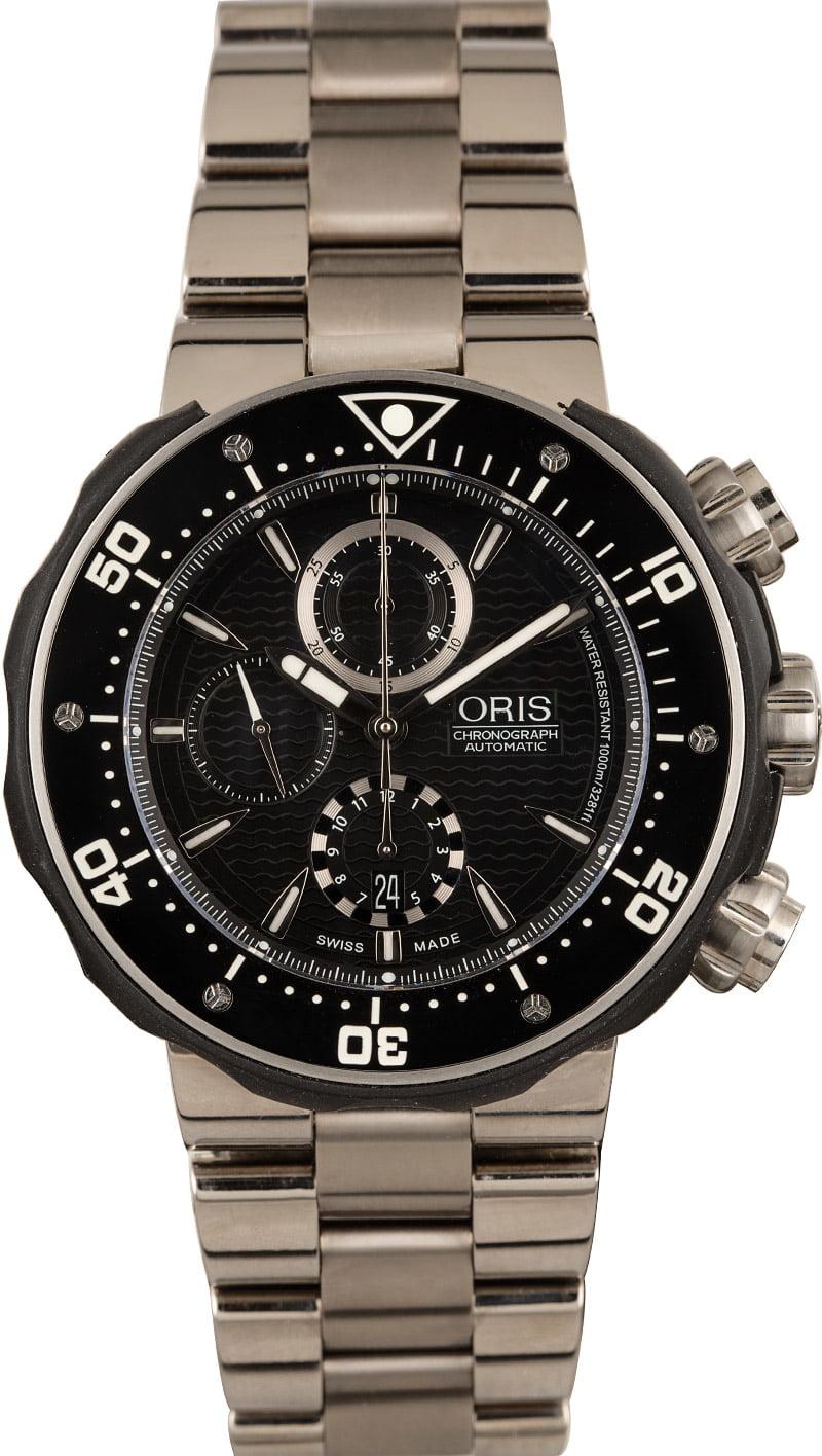 Oris ProDiver Chronograph Black dial