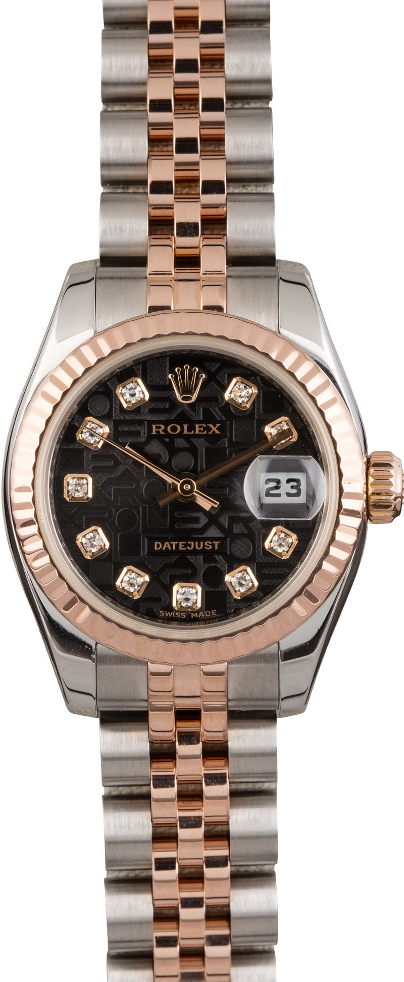 womens luxury watches holiday gifts for her Rolex Datejust 179171 Everose Two-Tone