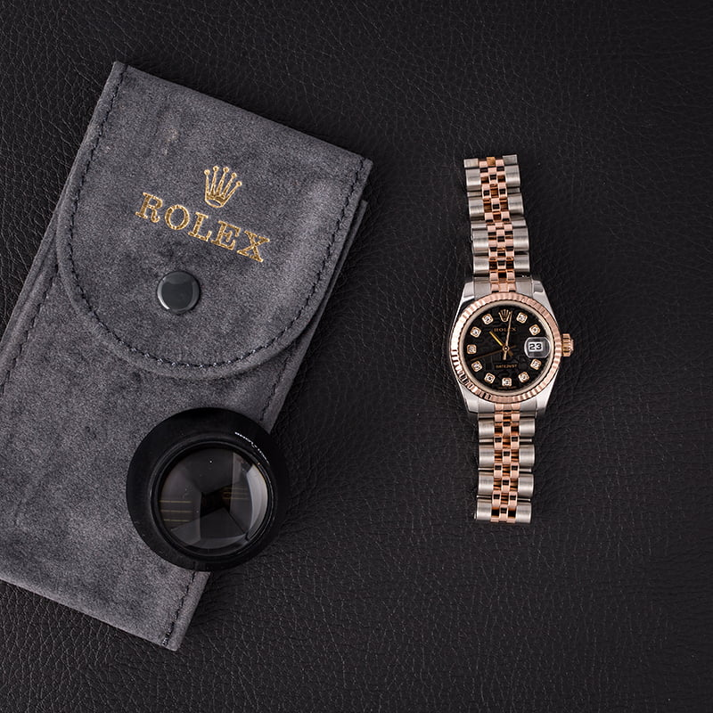 womens luxury watches holiday gifts for her Rolex Datejust 179171 Everose Diamond Jubilee