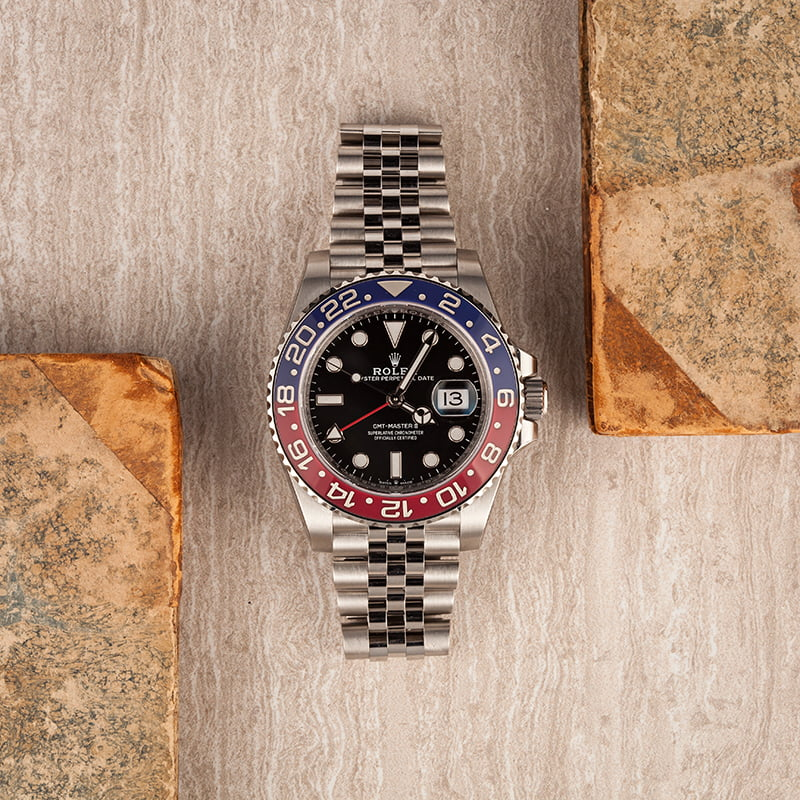 Rolex vs. Tudor: GMT Watch Comparison Pepsi reference 126710BLRO stainless steel Jubilee