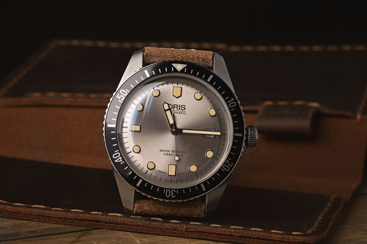 Oris Divers Sixty-Five Collection Guide Silver Dial