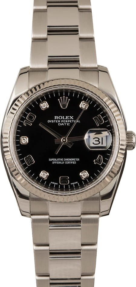 Rolex Date 115234 Black Diamond Dial Review