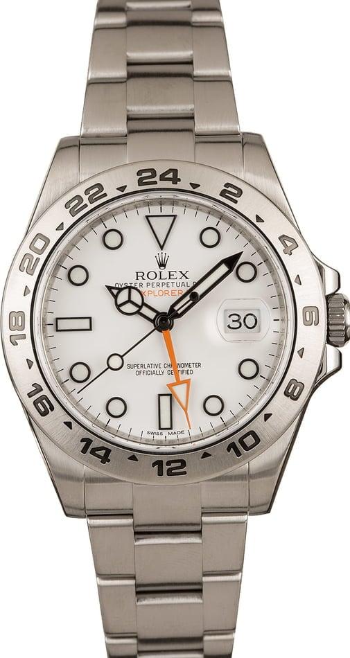 Rolex Sport Watches Ultimate Guide Polar Explorer II 216750 White Dial explorer watch