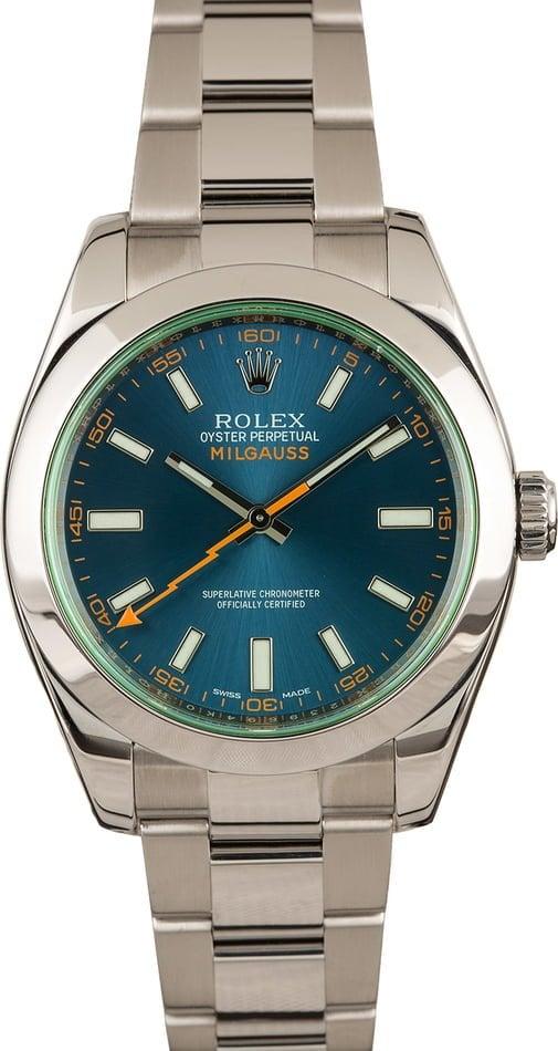 Rolex Sport Watches Best Ultimate Guide Milgauss 116400 GV Z-Blue Dial scientist watch