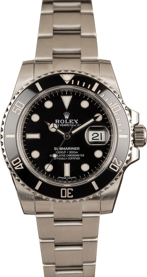Most Worn Rolex Watches Submariner 116610 Black Stainless Steel