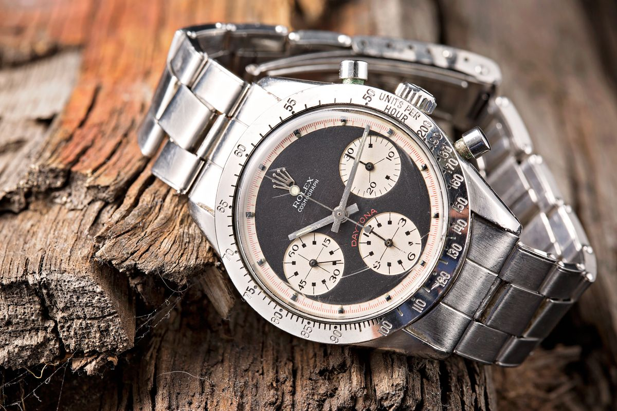 Vintage Rolex Daytona 6239 Paul Newman Stainless Steel