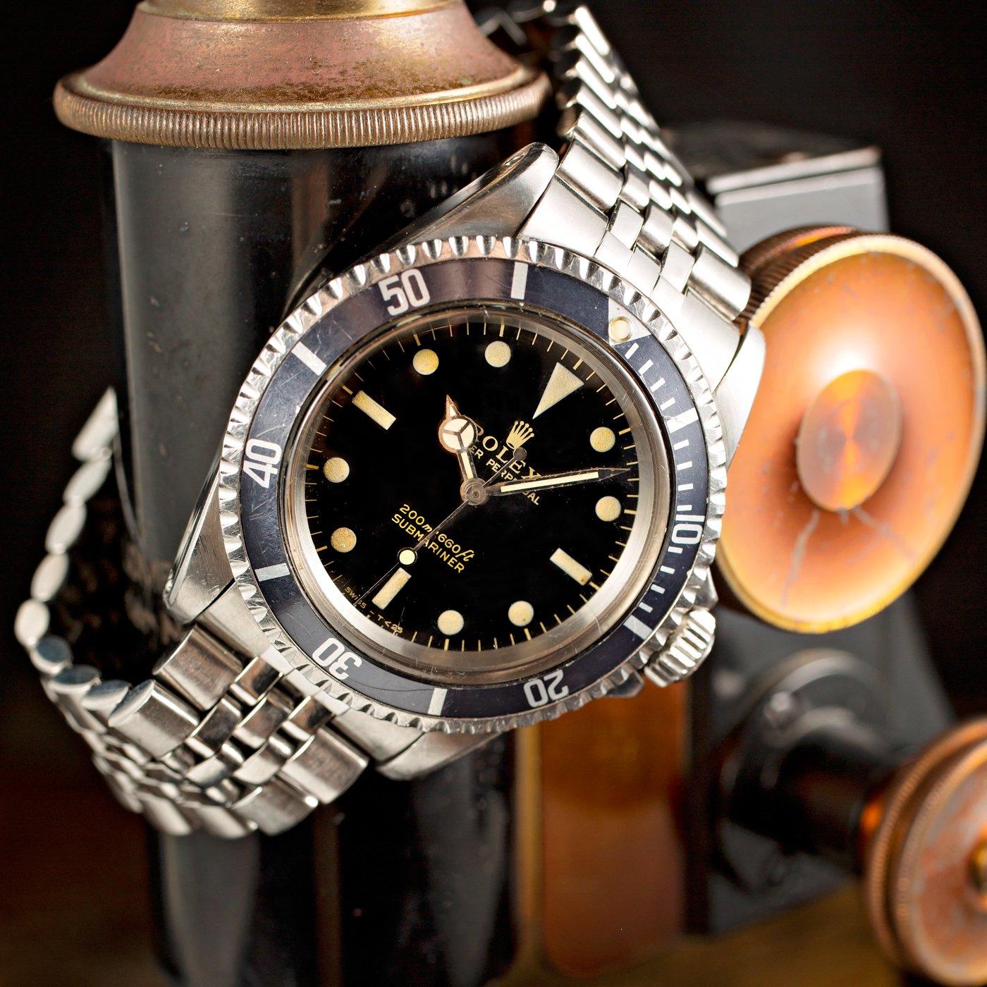 Vintage Rolex Submariner Black Dial