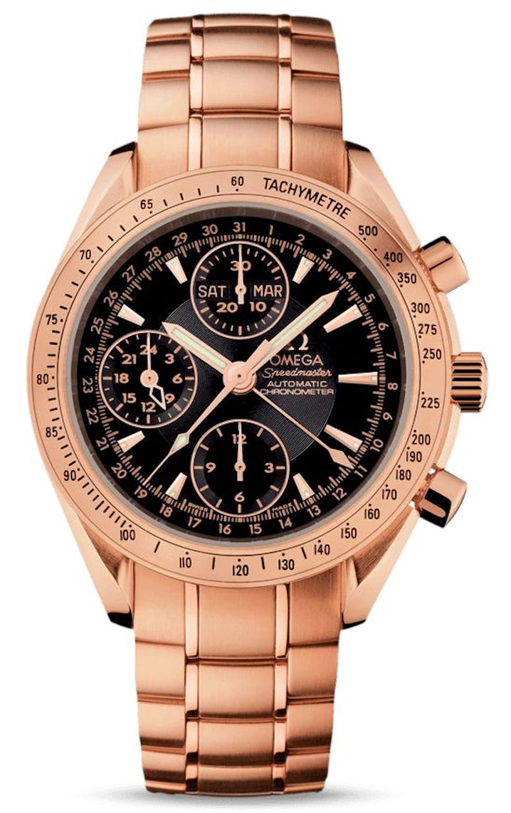 Omega Watches at the Golden Globes Speedmaster Automatic Triple Calendar Chronograph