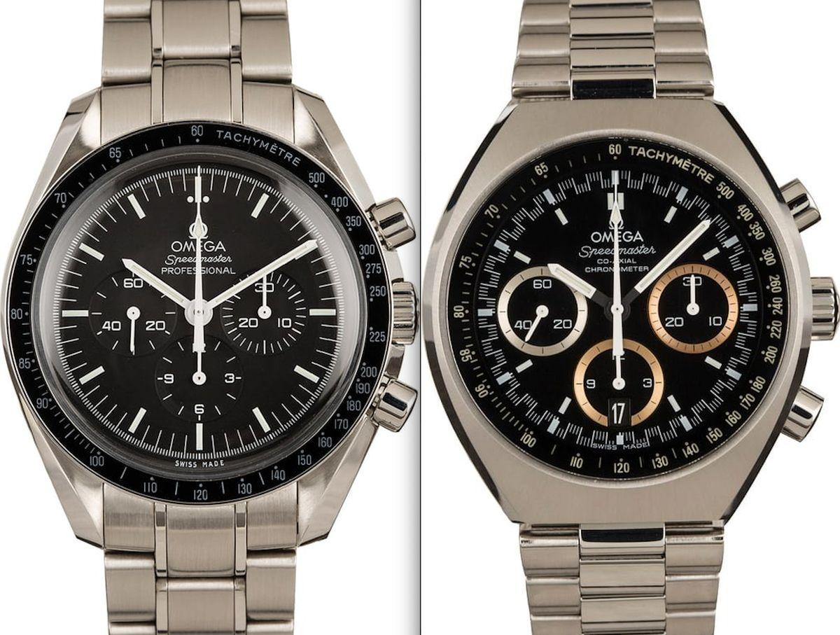 Omega Speedmaster Professional Moonwatch vs Speedmaster MKII Comparison