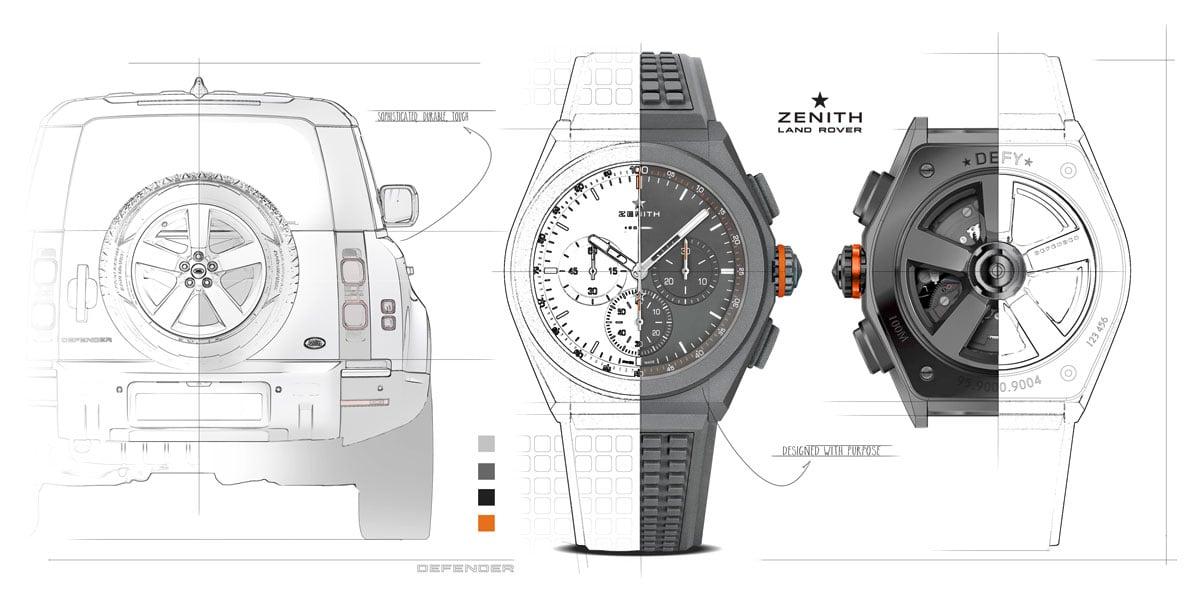 New Luxury Watches LVMH Watch Week Dubai 2020 Zenith DEFY EP21 Land Rover Edition