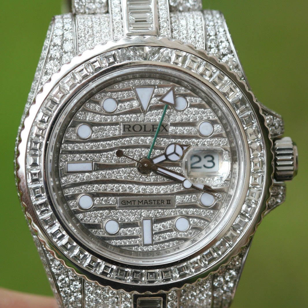 Most Diamonds Luxurious Rolex Watch References GMT-Master Ice 116769TBR