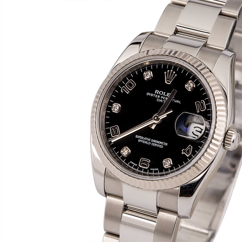Rolex Date Reference 115234 Diamond Dial Review