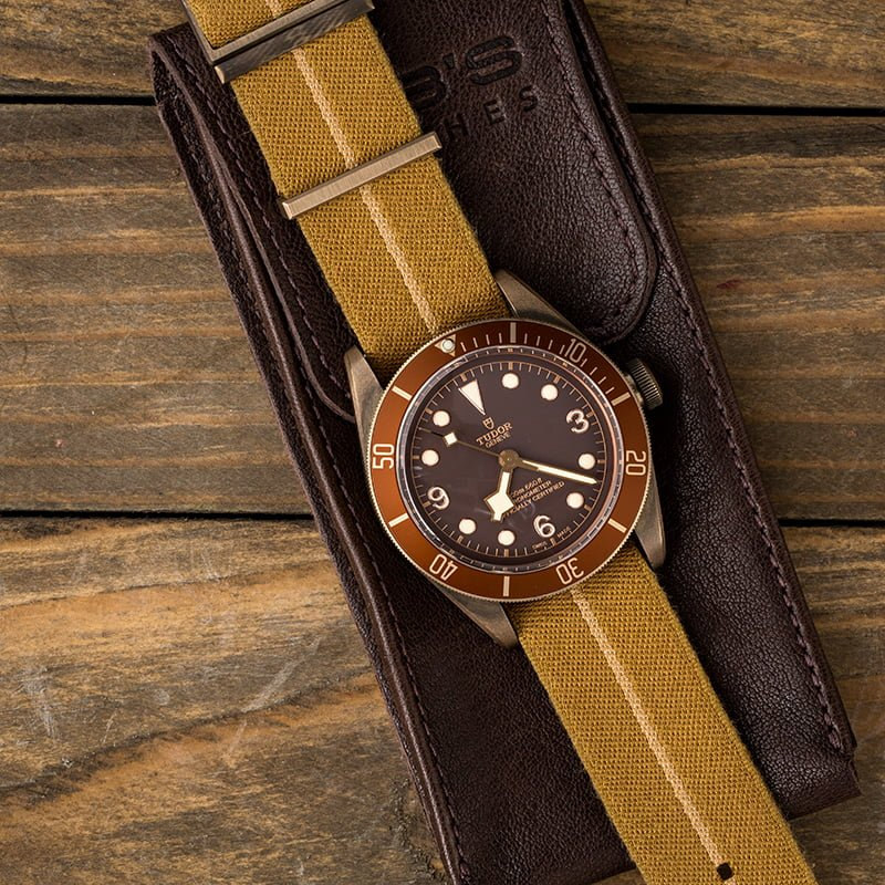 Tudor Watches Black Bay Bronze Review Canvas Strap