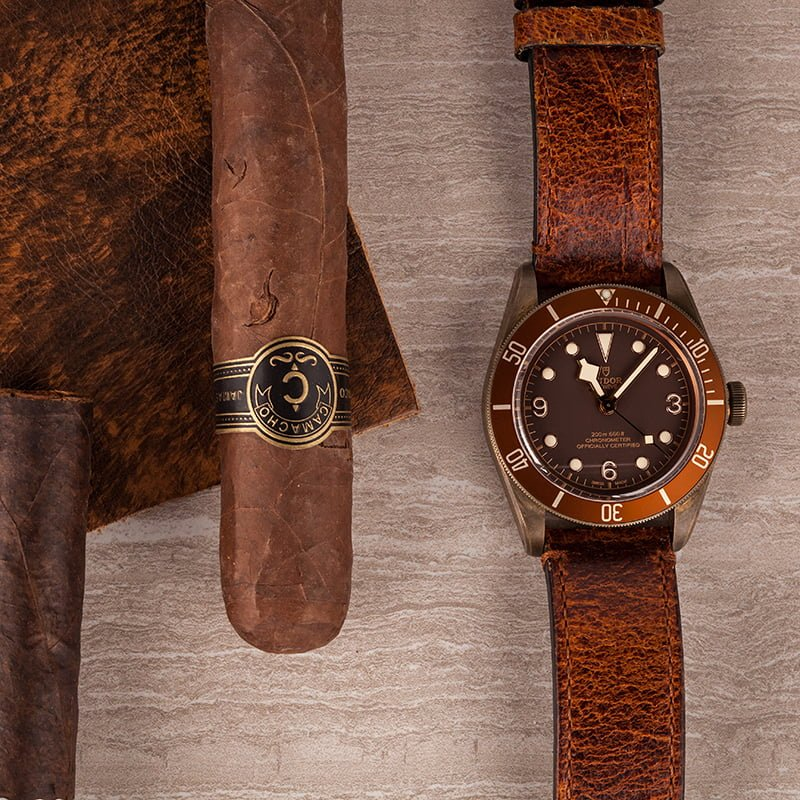 Tudor Watches Black Bay Bronze Review Leather Strap