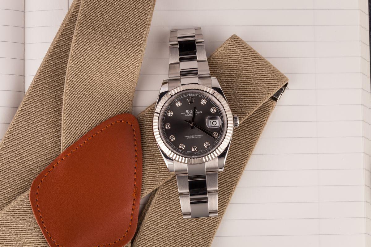 Rolex Datejust 41 Most Popular Model 126334 Diamond Dial Oyster Bracelet