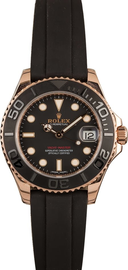 Rolex watches for men size guide Yachtmaster 37 Everose Oysterflex 268655