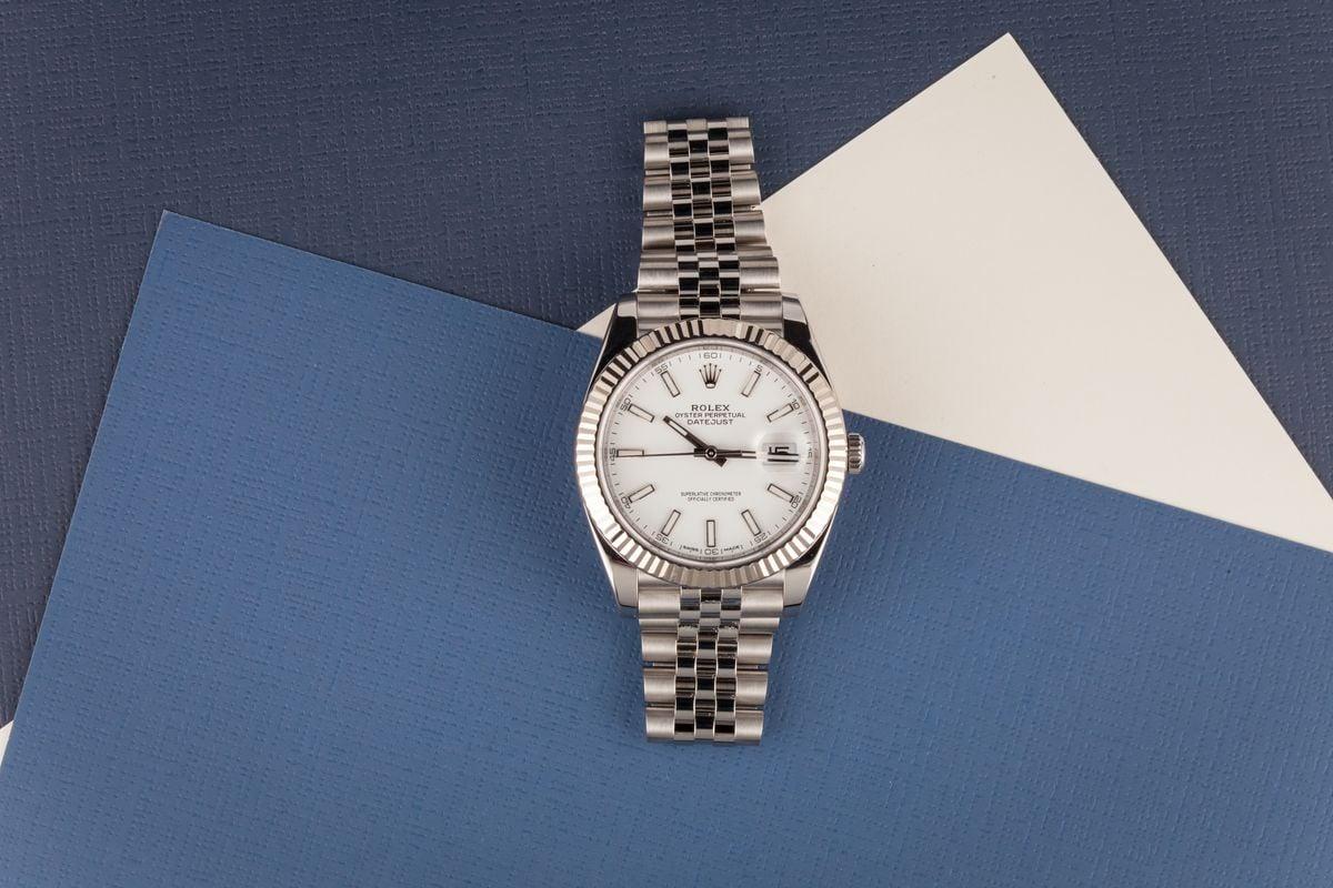 White Rolesor Rolex Datejust 41mm Most Popular 126334 Jubilee Bracelet Stainless steel