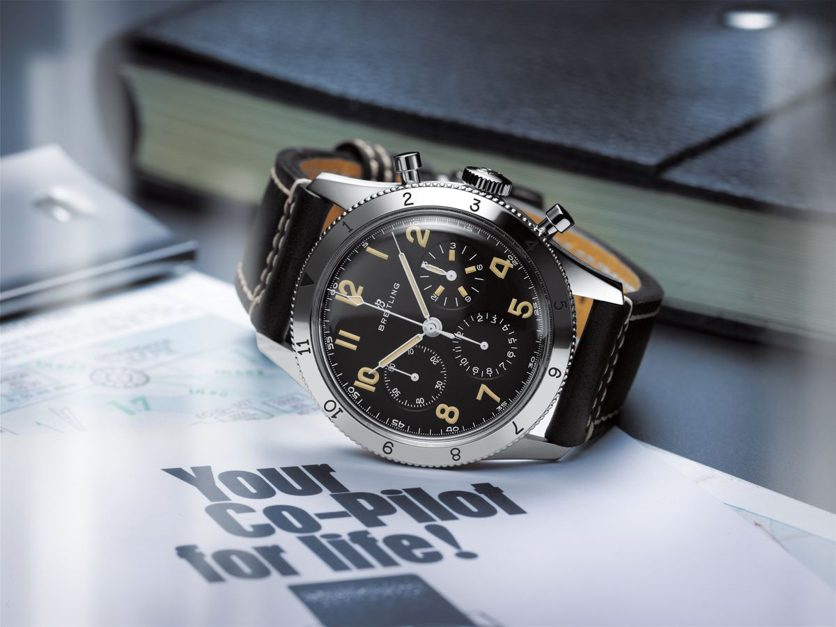 Breitling AVI Ref 765 1953 Limited Re-Edition Stainless Steel