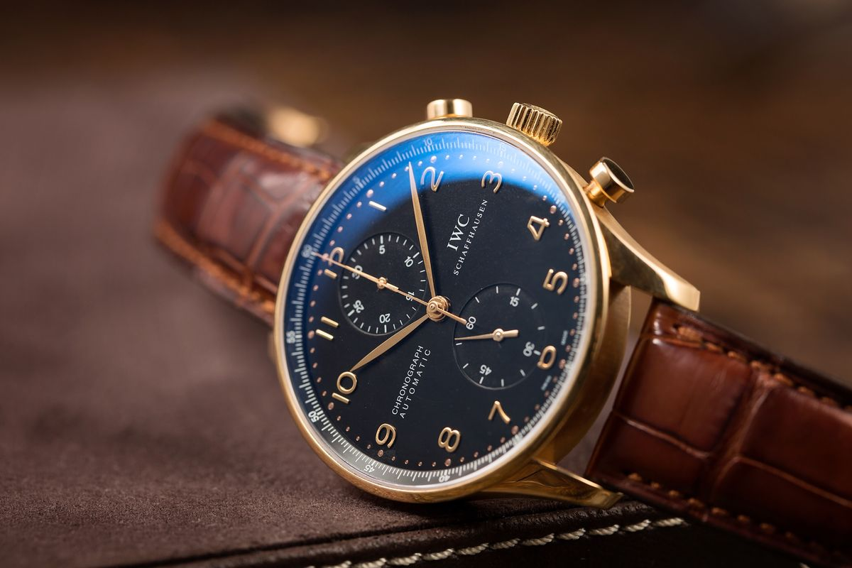men's luxury watches Style Guide IWC Portugieser Chronograph