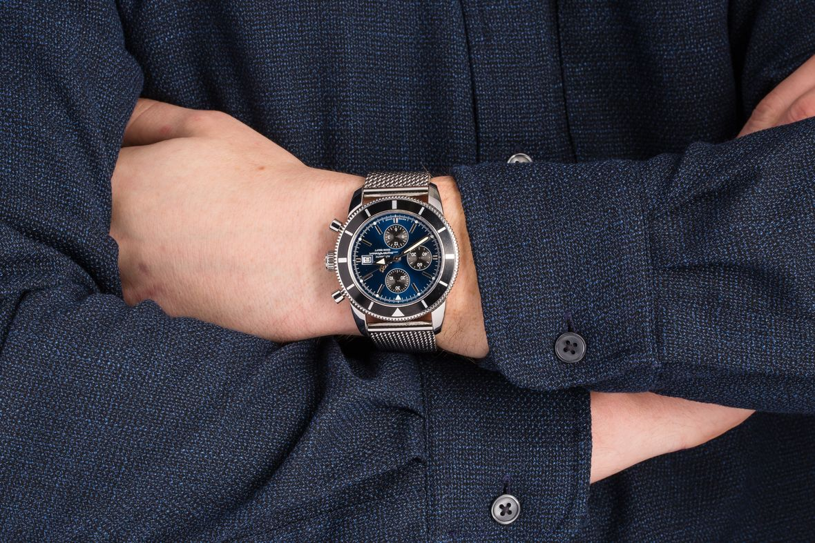 Breitling Superocean Heritage Chronograph Blue Dial