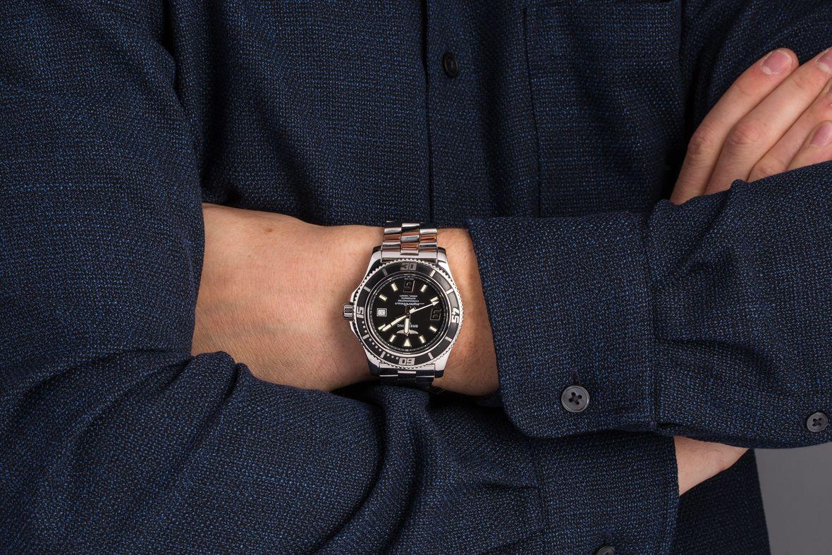 Breitling Superocean Stainless Steel Dive Watch