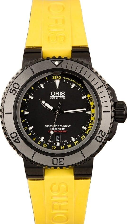 Oris Watches Aquis Ultimate Shopping Guide Depth Gauge