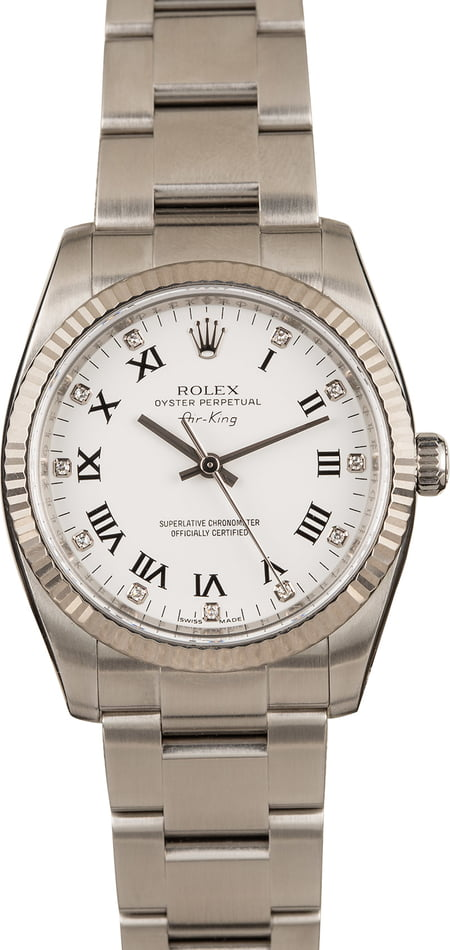 Rolex Valentine's Day 2020 Buying Guide Air-King 114234 Diamond Dial