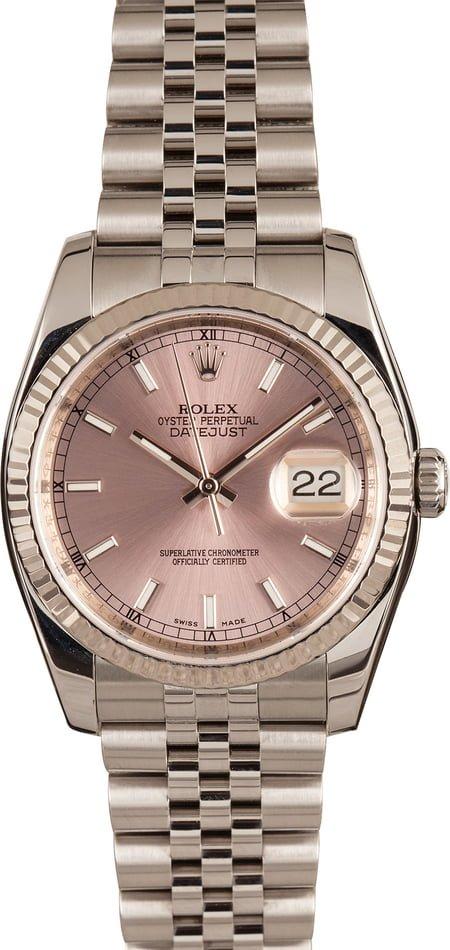 Popular Rolex Datejust 36mm Models 116234White Rolesor