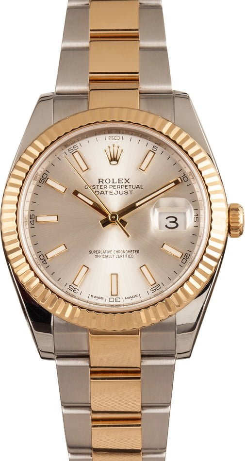 Rolex watches for men sizing guide Datejust 41 two-tone Rolesor 126333