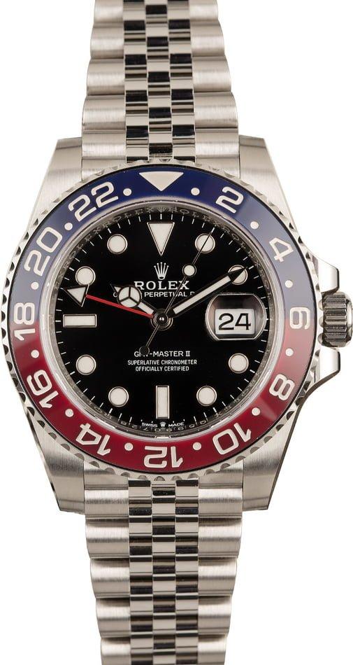 Rolex watches for men sizing guide Ceramic Pepsi GMT-Master II 126710 BLRO