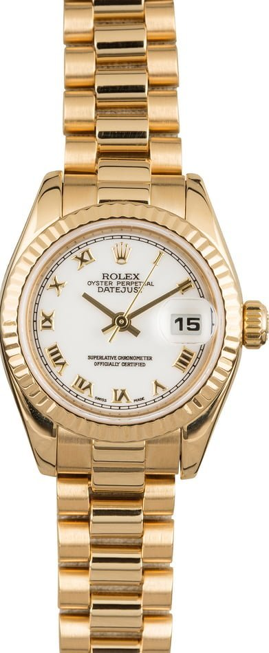 Rolex Valentine's Day 2020 Buying Guide Solid Gold Datejust 179178 Lady President