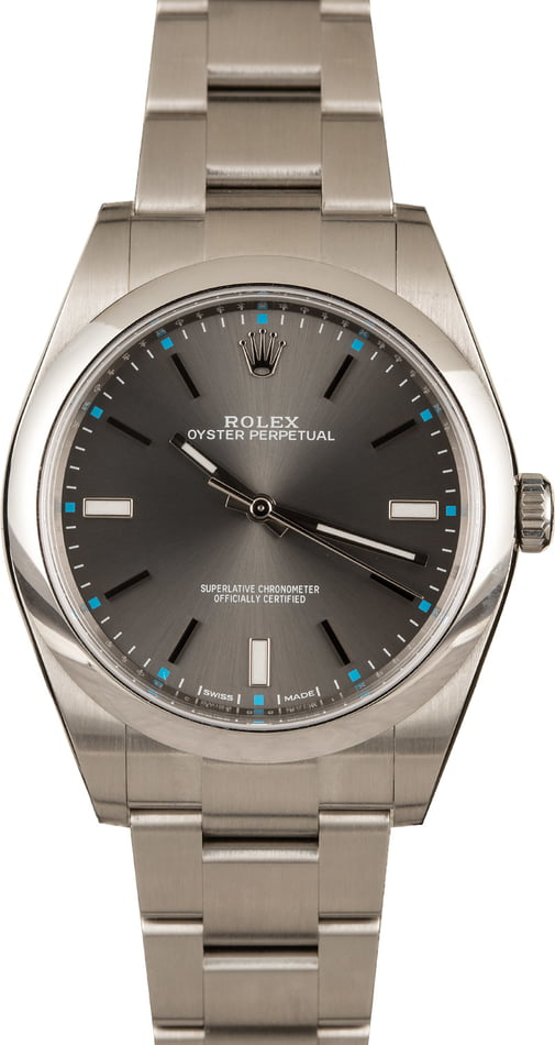 Rolex watches for men sizing guide Oyster Perpetual 39 Oystersteel 114300