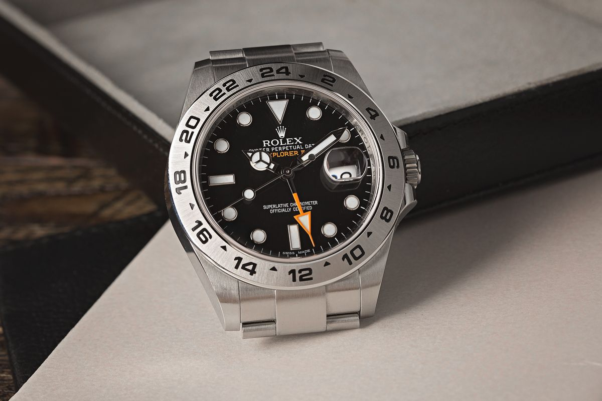 Can you use the Rolex Explorer II as a GMT- Watch? black dial