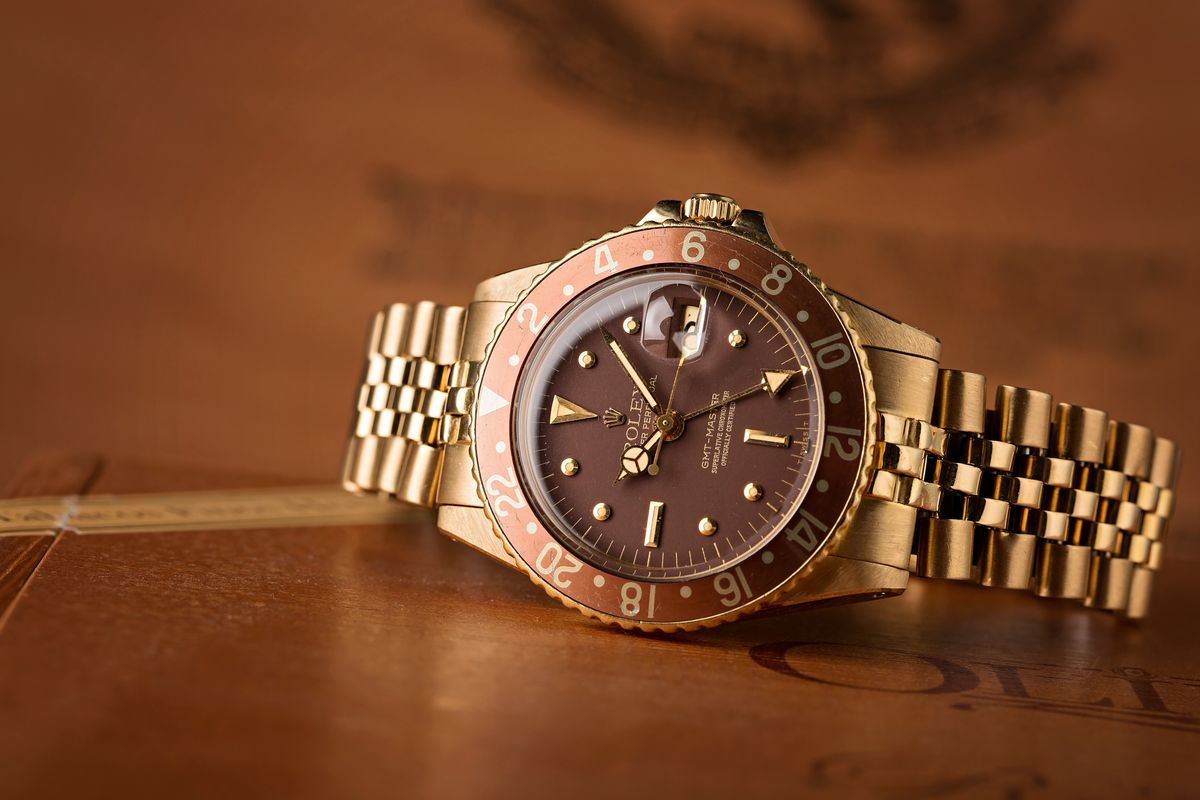 Who Sell Used Rolex Watches? GMT-Master Solid Gold