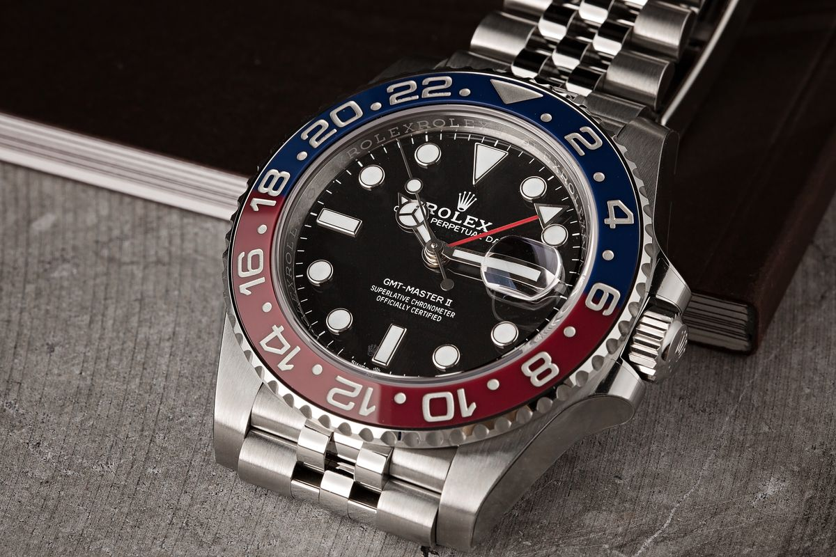 Buy Used Rolex Watches Online Stainless Steel Pepsi GMT-Master II Ceramic Bezel 126710 BLRO
