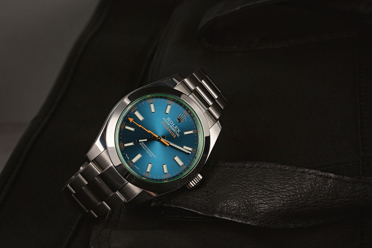 Is the Rolex Milgauss a Good Investment? ref. 116400GV Z-Blue Dial Green Crystal
