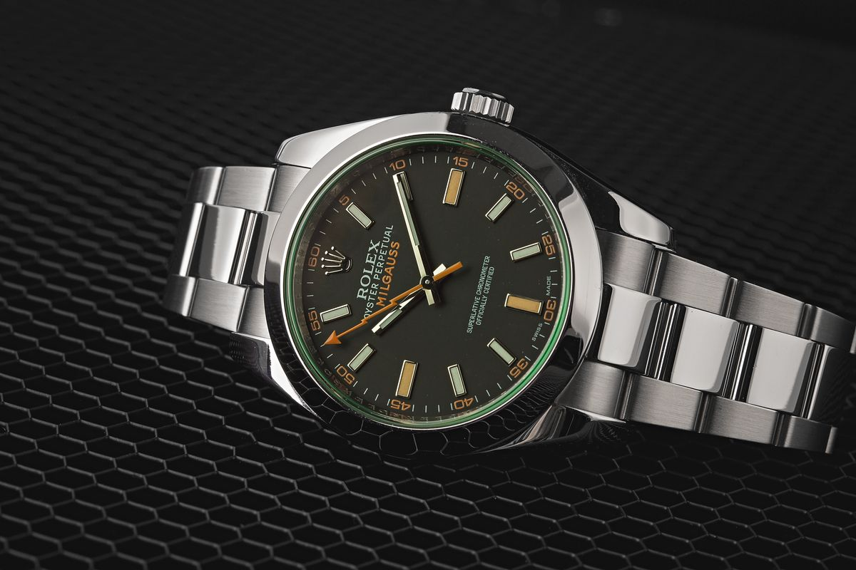Rolex Milgauss Watches Good Investments? 116400 GV 50th Anniversary Edition Green Sapphire Crystal