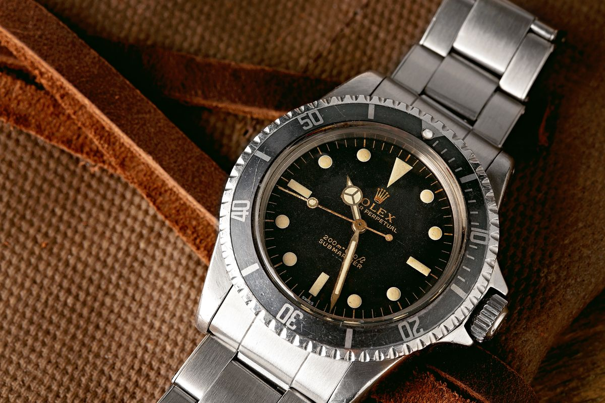 Best Place to Buy Used Rolex Watches Vintage Submariner 5513 Gilt Dial
