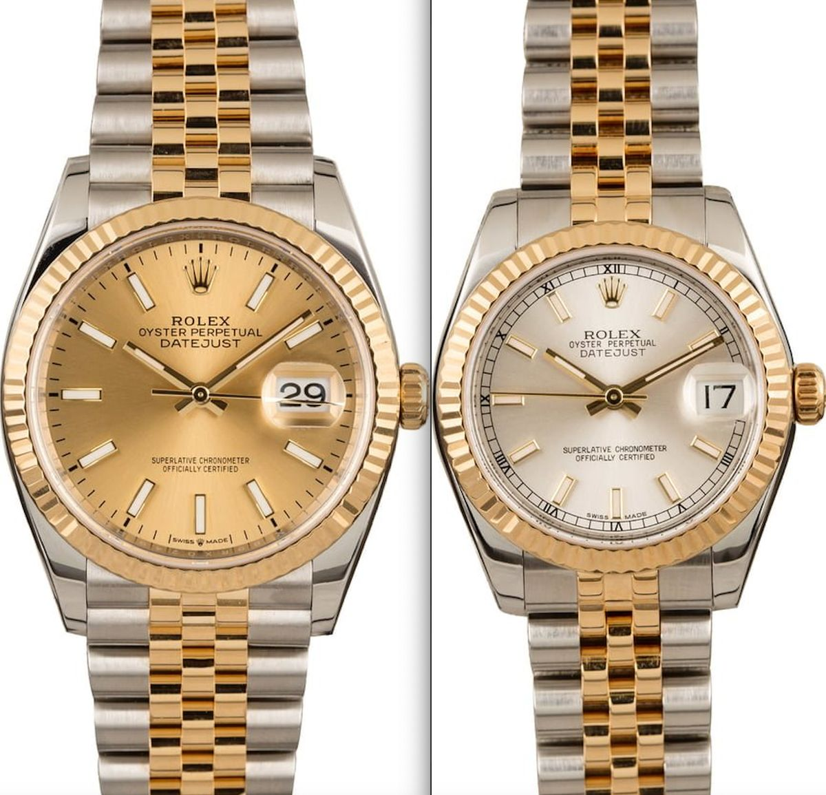 Rolex Valentine's Day 2020 Buying Guide Datejust 126233 178273 Two-Tone Rolesor