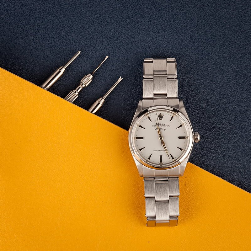 Vintage Rolex Air-King reference 5500 stainless steel buying guide