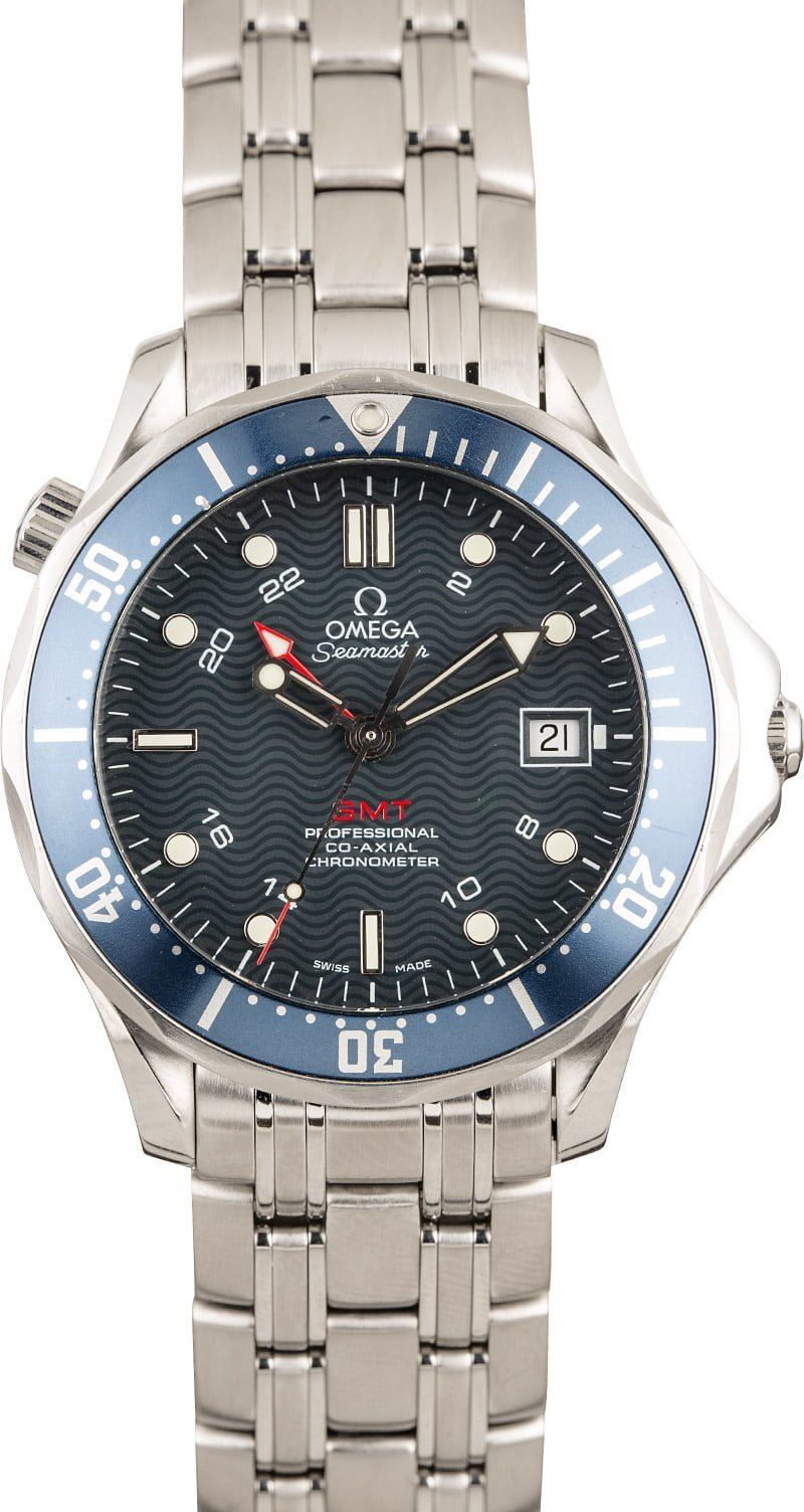 Omega Watches James Bond Seamaster Diver 300m GMT Blue Dial
