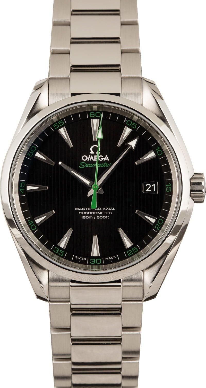 Omega Watches Seamaster Aqua Terra 150M Golf Edition Green