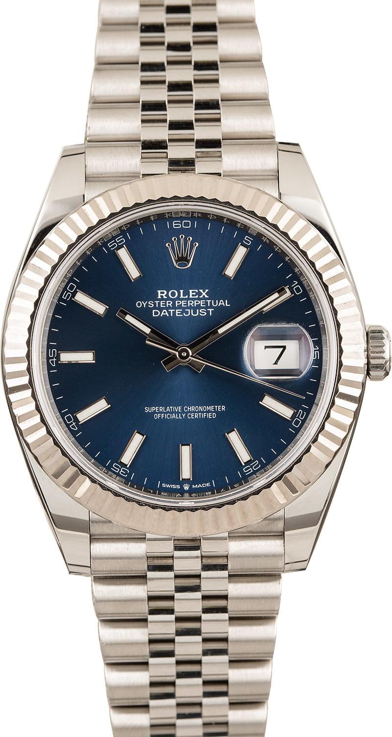 Rolex Datejust 41mm Most Popular 126334 Blue Dial Jubilee Bracelet